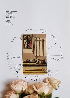 کارت تاروت ماه کامل نشان لیبرا