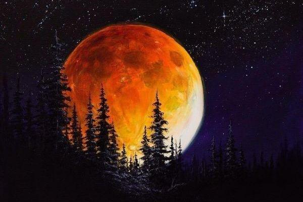 ماه گرفتگی نشان کماندار، ظهور و رهایی